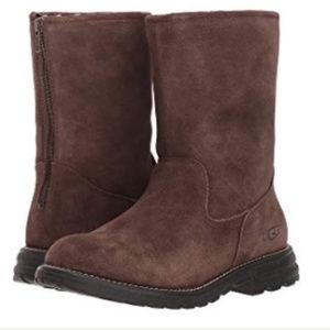 Ugg women 8 chocolate Langley suede boots